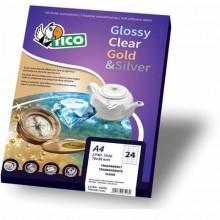 Etichette rettangolari TICO 45x25 bianco lucido 100 fogli - PG4-4525