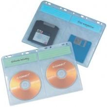 Buste porta CD Q-Connect Blinder Sheets A4 per 4 CD/DVD trasparente conf. da 10 - KF02203