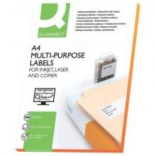 Etichette universali Q-Connect 105x42,3 mm bianco 14. et./foglio Conf. 100 fogli - KF10656