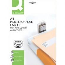Etichette universali Q-Connect A4 - 210x297 mm bianco 1 et./foglio Conf. 25 fogli - KF01759