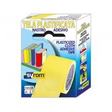 Nastro adesivo in in tela Tes 702 SYROM formato 38 mm x 2,7 m - materiale tela plastificata giallo - 7574