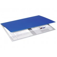 Sottomano doppio Neon Orna f.to 49x34,5 cm in plastica morbida Soft-touch blu 0107NEO4000
