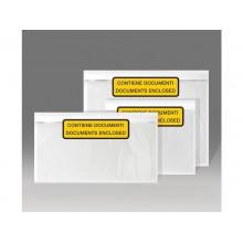 Buste autoadesive portadocumenti WePack f.to 24x18 cm trasparente stampate conf. da 100 buste - 240180100S