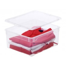 Contenitore Rotho Clear Box in PPL impilabile trasparente - 18 l. F707805