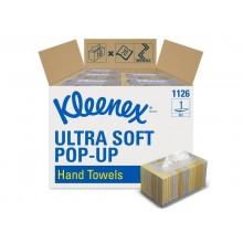 Asciugamani intercalati KLEENEX® in carta a 1 velo bianco conf. da 70 ff - 1126