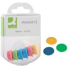 Magneti per lavagne bianche Q-Connect assortiti 20 mm conf. da 6 - KF02040