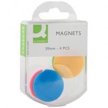 Magneti per lavagne bianche Q-Connect assortiti 30 mm conf. da 4 - KF02041