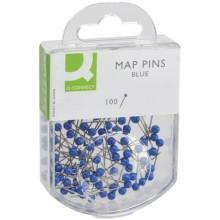 Spilli cartografici Q-Connect 15 mm blu  conf. da 100 - KF15276