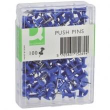 Spilli per bacheca Q-Connect blu  Scatola da 100 pezzi - KF15269