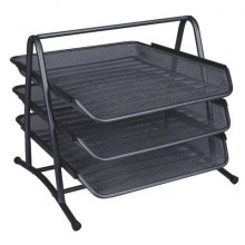 Set 3 Vaschette portadocumenti Q-Connect 27,8x27,5x35 cm nero KF00823