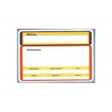 Etichette a modulo continuo per spedizioni Tico Tab 142x99 mm 3 et./foglio Conf. 100 fanfold - SEND-300