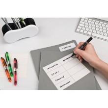 Etichette bianche scrivibili a mano TICO Export 100x48 mm bustina da 10 fogli - E-10048