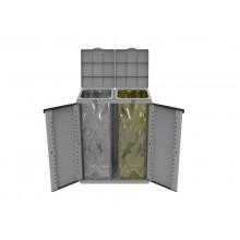 Armadietto a due ante raccolta rifiuti TERRY Eco Cab 2 grigio 1002283