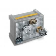 Cassettiera sovrapponibile ad incastro TERRY Poker 16 grigio/trasparente 1002305