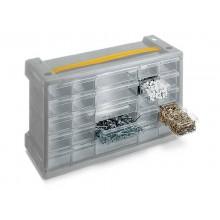 Cassettiera sovrapponibile ad incastro TERRY Poker 25 grigio/trasparente 1002258