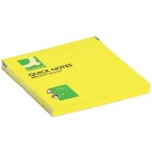 Foglietti riposizionabili Q-Connect 70 giallo neon 76x76 mm 6 blocchetti da 75 ff - KF10514
