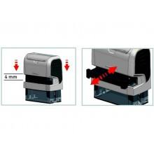 Cartucce di ricambio per timbri PRINTY 6/4910 TRODAT in feltro nero blister da 3 pezzi - 1426