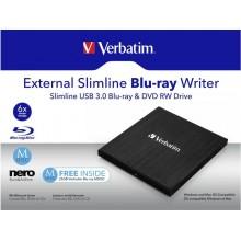 Masterizzatore Blu-ray Esterno 3.0 Slimline Verbatim nero 43890