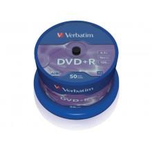 DVD+R Verbatim 16x 4,7 GB  in confezione da 50 dvd - 43550