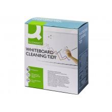 Contenitore per detergenti lavagna Q-Connect include 100 salviette e un detergente liquido da 250 ml - KF00291A
