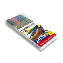 Marcatore permanente Pentel N850 punta conica 4,5 mm assortiti 4 pezzi - 0100861