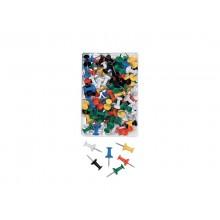 Spilli per bacheca Q-Connect colori assortiti conf. da 100 - KF15274