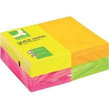 Foglietti riposizionabili Q-Connect 70 g/m² colori intensi 76x127 mm 12 blocchetti da 100 ff - KF01350