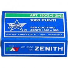 Punti metallici ZENITH 130/Z6 6/6  Conf. 1000 pezzi - 0301303601 (Conf.10)