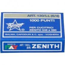 Punti metallici ZENITH 130/LL 6/4  Conf. 1000 pezzi - 0301306401 (Conf.10)