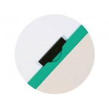 Cartellina con clip Q-Connect PVC 22x30,7 cm verde KF00464 (Conf.10)