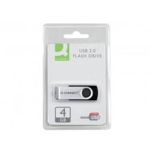 Chiavetta USB Q-Connect High Speed 2.0 nero 4 GB con cappuccio di protezione KF41511