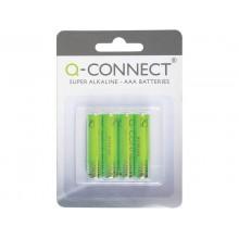 Batteria alcalina Q-Connect Micro 1.5 V AAA LR03 conf. da 4 - KF00488