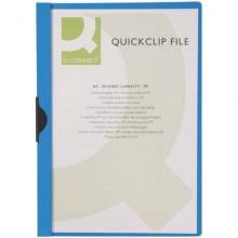 Cartellina con clip Q-Connect PVC 22x30,7 cm blu scuro KF00462 (Conf.10)