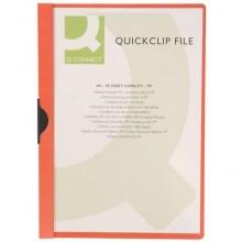 Cartellina con clip Q-Connect PVC 22x30,7 cm rosso KF00461 (Conf.10)