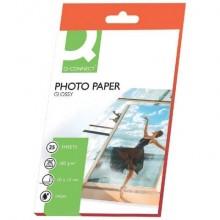 Carta fotografica Inkjet Q-Connect 10x15cm bianco 180 g/m² lucida conf. da 25 fogli - KF01905