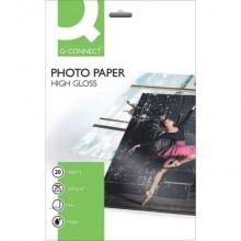 Carta fotografica Inkjet Q-Connect A4 bianco 260 g/m² lucida conf. da 20 fogli - KF02163