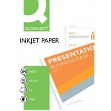 Carta fotografica Inkjet Q-Connect A4 bianco 100 g/m² lucida conf. da 200 fogli - KF01553