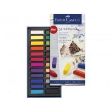 Crete morbide Faber-Castell Soft Pastels Creative Studio mini assortiti astuccio di cartone da 24 - 128224
