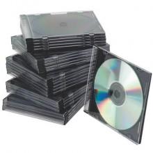 Porta CD/DVD Q-Connect Slim Case standard sp. 5 mm nero/trasparente conf. 25 pezzi - KF02210