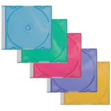Porta CD/DVD Q-Connect Slim Case standard sp. 5 mm colori assortiti conf. 25 pezzi - KF04384