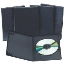 Porta CD/DVD Q-Connect singolo sp. 14 mm nero conf. 5 pezzi - KF02211