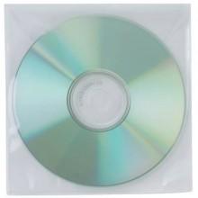 Tasca per CD/DVD Q-Connect polipropilene 120my senza foratura con lembo chiusura conf. da 50 pezzi - KF02207