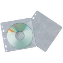 Tasca per CD/DVD Q-Connect polipropilene 120my con foratura conf. da 40 pezzi - KF02208