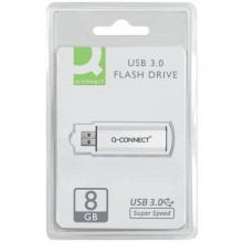 Chiavetta USB Q-Connect Super Speed 3.0 argento/nero 8 GB KF16368