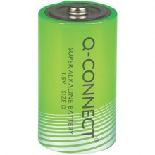 Batteria alcalina Q-Connect Mono 1.5 V LR20/D conf. da 2 - KF00491