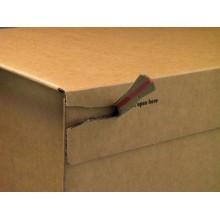 Scatola con tasca interna ColomPac in cartone ondulato f.to 26,2x16,5x5 cm avana - CP 066.02 (Conf.20)