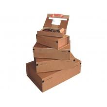 Scatola con tasca interna ColomPac in cartone ondulato f.to 36,5x23,5x12 cm avana - CP 067.04 (Conf.10)