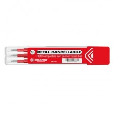 Refill inchiostro gel cancellabile RISCRIVI 0,7 mm rosso astuccio da 3 pz - OW 10136 R