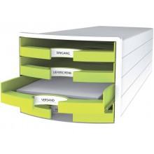 Cassettiera IMPULS HAN 294x368x235 mm con 4 cassetti aperti in polistirolo limone - 1013-50