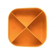Portapenne X-LOOP HAN in polipropilene con 4 scomparti arancione 17230-51